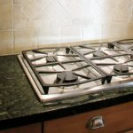 Stove in Granite Counter