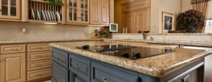 Modern Kitchen With Stone Counter Top On Island